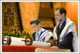 In the Shul, Josh Reads from the Torah