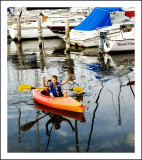 The Young Canoers at the Watkins Glen Marina