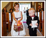 Flower Girl and Ring Barer Down the Isle