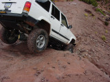 Check this out both rear tires off the ground on this drop off !!!
