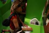 Karen doing art work on her mask !!!