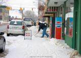 Shoveling Snow- Pendleton, Indiana