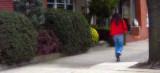 Girl Wearing Red Thingie ( OK ... Pashmina )