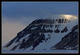 Spitzbergen peak on glacier trip