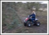 Quadding biker chick!