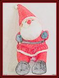 15 december: Santa in coloured pencil