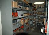 Ställverkets reservdelslager - med gamla delar från 1940-t. o framåt