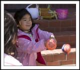 Lauren hitting ball