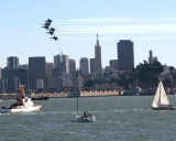 Blue Angels over SF Bay
