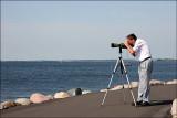 Niels looking for birds.