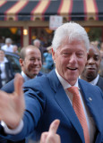 President Clinton Working the Crowd