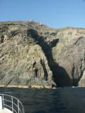 but the skipper found a calm spot to fish