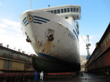 As soon as the vessel was out of the water a complete hull inspection was carried out.jpg