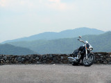 My Boulevard M109R at Deal's Gap overlook