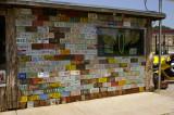 Wall of car licence plates, Oklahoma