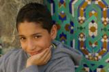 Boy at Hassan II Mosque, Casablanca