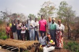 Agroforestry class with covered nursery.JPG