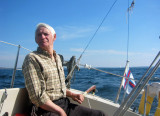 My dad at the helm.