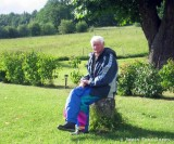 My dad enjoing the sunny spells.
