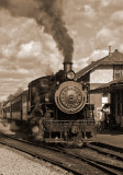 New Hope Steam Train in Sepia