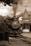Train Station in Sepia