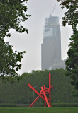 Mark di Suvero's Sculpture in front of the unfinished Comcast building4077