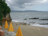 the beach at the hotel