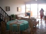 living room at the marina