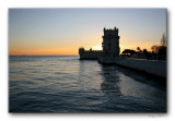 sunset at Belém Tower