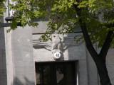 Finance ministry building Bismarkestrasse Berlin. Reich eagle.