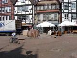 Rinteln,  , town square