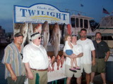 Destin '06 weigh-in for Fishing contest,  Mike Blackwell 2nd from Lf. Mark Solomon, 2nd from Rt.