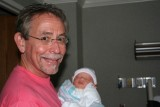 Boz and new grandson Trey 7/27/07
