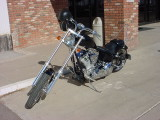 bike at the boat yard