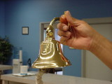 bell at the boat yard