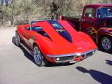 red 1968 Corvette