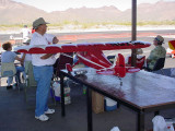 flying model airplane