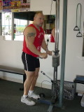 Dave working out