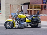 nice yellow motorcycle
