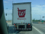 Walgreens truck going north