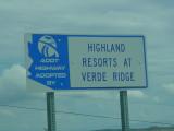 Highland Resorts sign