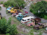 big field of trucks