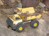 yellow toy dumptruck