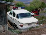white Studebaker Police Car