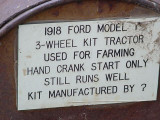 1918 Ford Model T3 wheel kit tractor