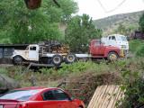 trucks on hill
