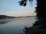 western morning mist