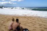 Watching the waves at Waimea Bay