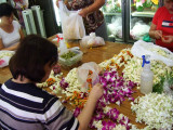 Lei makers, Chinatown downtown Honolulu