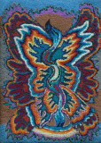 Pheonix rising: Fibre wool work 36x48 N.Rich